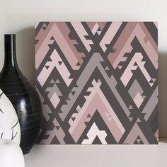 quadro decorativo geometric pink