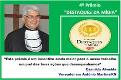 """RN POLITICA EM DIA: DE ANTÔNIO MARTINS VEM UM BI-CAMPEÃO """"DESTAQUE DA ..."""