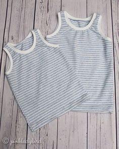 """Feli auf Instagram: """"Heute etwas unspektakulär: Zwei neue Unterhemden für die Jungs. Aber auch wenn die unscheinbar aussehen mag ich die richtig gerne. Der…"""" Instagram, Sewing Patterns, Guys, Kids"""