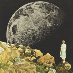 Mount Moon por Mariano Peccinetti www.facebook.com/CollagealInfinitowww.printallover.me/collections/marianopeccinettiwww.society6.com/Trasvorderwww.instagram.com/marianopeccinetti