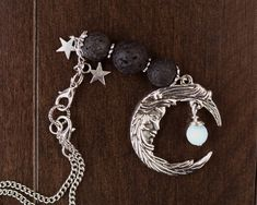 Goddess Moon Car or Home Hanging Charm Silver Metal Charm Feminine Moon & Stars, Moonstone, Lava Beads Car Diffuser, Essential Oil Diffuser Dragon Pendant, Small Shops, Organza Gift Bags, Bead Caps, Silver Stars, Essential Oil Diffuser, Stars And Moon, Silver Metal, As You Like