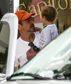 Robert Downey Jr. and his son Exton, out and about in Nashville, Tennessee, 6 May 2014.