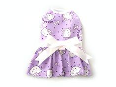 Purple Pet Dog Apparel Clothes Harness Dress