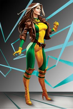 Rogue from the X-men, foxy as always.