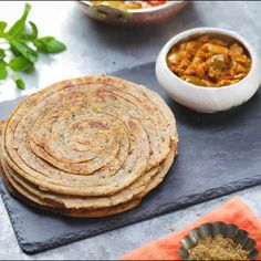 Lacha Paratha is a multi layered shallow fried north Indian flatbread and the perfect side dish to your favourite curried food! Lacha Paratha is a multi layered shallow fried north Indian flatbread and the perfect side dish to your favourite curried food! Paratha Recipes, Paneer Recipes, Veg Recipes, Vegetarian Recipes, Cooking Recipes, Healthy Recipes, Healthy Food, Asian Recipes, Mexican Food Recipes