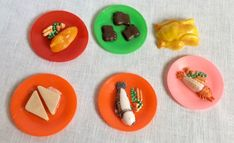Vintage My Merry Doll House Dishes With Food Plus Plastic Turkey  #MyMerry