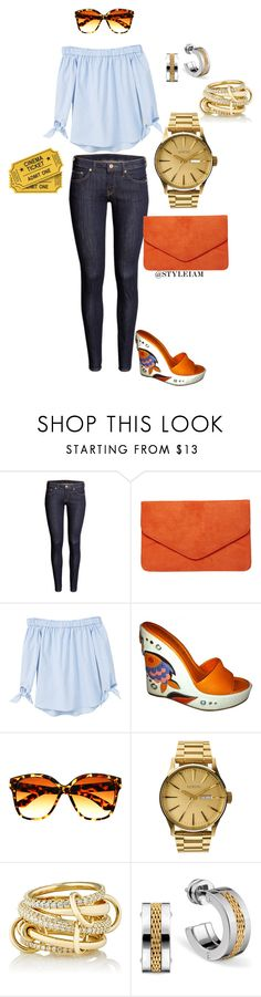 """""""movie date!!!"""" by styleiam ❤ liked on Polyvore featuring Dorothy Perkins, MANGO, Prada, Nixon and SPINELLI KILCOLLIN"""
