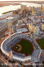 Downtown San Diego and Petco Park, viewed from the southeast.