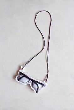 Necklace Glasses Black - Lab 71 - BijzonderMOOI* Dutch design online