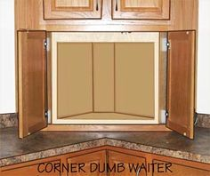 Corner dumbwaiter  can get fire rated doors. This one has specs