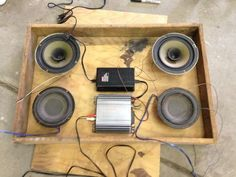 Cheap Bluetooth Stereo System: 4 Steps (with Pictures) Bluetooth Speaker Box, Bluetooth Gadgets, Cheap Speakers, Diy Speakers, Homemade Speakers, Portable Speakers, Diy Electronics, Electronics Projects, Radios