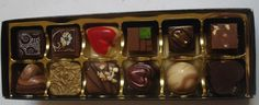 Coco Chocolaterie - 12 Boxed Chocolates Chocolate Box, Chocolates, Valentine Day Gifts, Chocolate, Brown, Valentine Gifts