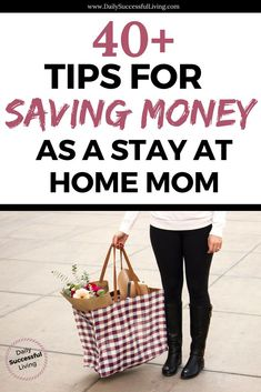 Saving money as a stay at home mom is the key to successfully managing your budget. I'm always looking for little ways to save money and compiled this list of tips to help you save money and reduce your spending. Learn how to find the leaks in your budget and begin saving money as a stay at home mom.