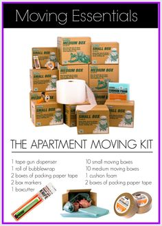 #Moving out of an #apartment? Start with this Apartment Moving Kit.