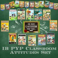 SPANISH IB PYP Classroom Attitudes Poster & Banner Set in for Paper pages) - A FUN & creative way to display the IB PYP Attitudes in Spanish in your bilingual classroom! Ib Classroom, Bilingual Classroom, Spanish Classroom, Classroom Ideas, Elementary Spanish, Classroom Design, Classroom Displays, Elementary Art, Ib Attitudes
