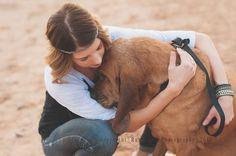 'a girl and her dog' |  Phoenix Photographer  #bloodhound #arizona #desert