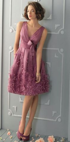 Rosa Clará dress in mauve (Aire Barcelona Abendkleid Modell Elegant Dresses, Pretty Dresses, Sexy Dresses, Evening Dresses, Short Dresses, Prom Dresses, Formal Dresses, Wearing Dresses, Summer Dresses