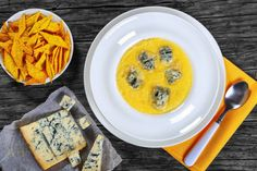 polenta with melted gorgonzola cornmeal biscuits