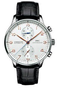 IWC Portuguese Chrono Automatic Steel Black Mens Watch IW371401