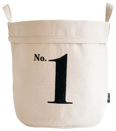 Recycled Canvas Bucket, No. 1, Small - traditional - Baskets - MAIKA