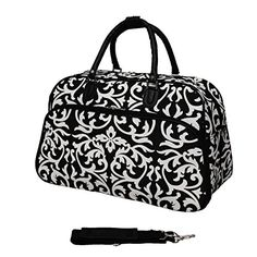 This small carry-on sized duffle bag is perfect for travel through the airport, or can be used as a small weekender bag. The bag features a sleeve that can