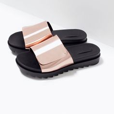 SHINY SANDALS WITH TRACK SOLE-Shoes-Woman-SHOES & BAGS | ZARA United States
