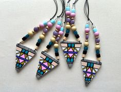 Triangle // Pastel New necklaces