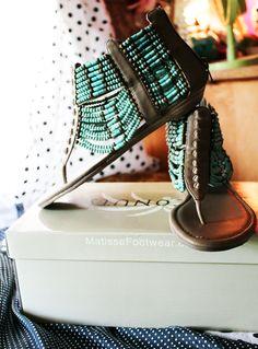 turquoise #boho chic sandals. via chefkatelyn.com