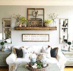 IG @angelamoffett living room cottage/farm house style