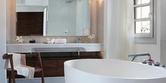Bathroom Suite at Belvedere Hotel, Mykonos