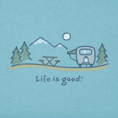 Life is Good Big Daisy Smooth Scoop Tee