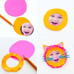 DIY Kid Animal Face Magnets with @Astrobrights by Neenah Paper by Neenah Paper