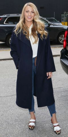 """Blake Lively in Louboutin """"Octavian"""" flats"""
