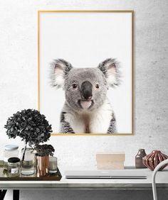 hyena print a4 gloss UNFRAMED animal nursery safari baby