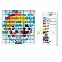 Rainbow Dash from My Little Pony perler beads Hama Beads pattern download