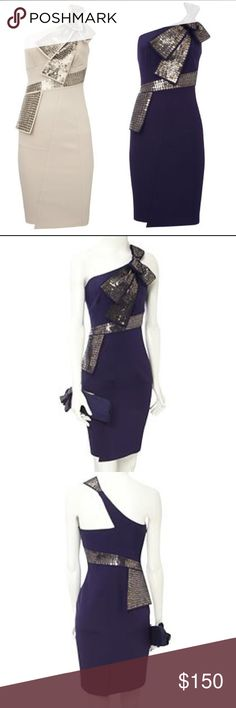 Karen Millen Dress - Size 2 Stunning Karen Millen Sequin Bow One Shoulder Dress. Perfect condition, worn once, dry cleaned. Size 2, purple, midi dress and will fit petite XS or XXS. I love this dress so much that I want to keep it even though it doesn't fit me anymore! It's truly classy and beautiful dress for any formal/dressy occasion 😍💕❤️ Karen Millen Dresses Midi