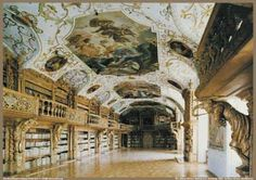 Abbey Library, Waldassen, Germany, founded 1585