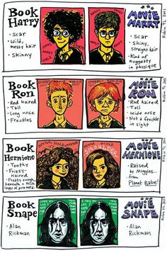 Harry Potter Book vs Movie It's impossible to find any pictures on here that aren't from the movies. Don't want movie Harry. he's too short.
