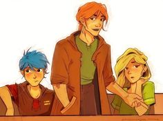 """""""Mr Bill Weasley has swapped places with his now very sulky-looking daughter and is directing her attention to the pitch."""" everything about them makes me happy Teddy, Bill and Victoire anxiouspineapples Albus Severus Potter, Harry Potter Fan Art, Harry Potter Universal, Harry Potter Fandom, Harry Potter World, Victorie Weasley, Teddy Lupin, Harry Potter Next Generation, Hogwarts Mystery"""