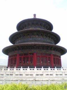 Beijing-The Temple of Heaven. No nails, held together by wooden dowels. AMAZING!