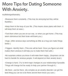 When Youre Dating Someone With Anxiety