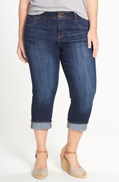 Lucky Brand 'Emma' Stretch Crop Jeans (Agate) (Plus Size) available at #Nordstrom