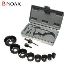 "Binoax 11 unids DIY Agujero Consideró Bit Kit Set 3/4 ""a 2 1/2"" 19-64mm Brocas de Madera de Chapa De Madera de Chapa Fina Delgada Aleaciones # ND"