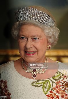 Queen Elizabeth ll attends a State Banquet on the first day of a State Visit to Turkey on May 13, 2008 in Ankara, Turkey.