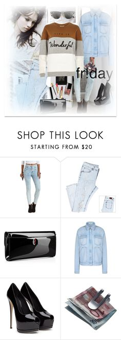 """""""Black Friday"""" by ilona-828 ❤ liked on Polyvore featuring Ray-Ban, Charlotte Russe, Christian Louboutin, STELLA McCARTNEY, Georg Jensen, River Island, StreetStyle, denim, polyvoreeditorial and shoptilyoudrop"""