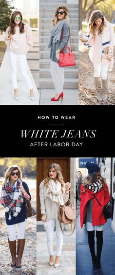 Answering ALL your questions regarding How To Wear White Jeans After Labor Day, what to wear with white jeans after labor day, and everything you want to know about wearing white jeans after labor day