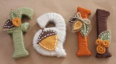 yarn Letters DIY - Yarn Wrapped Letters for Fall. Yarn Wrapped Letters, Yarn Letters, Cardboard Letters, Diy Letters, Letter Crafts, Wooden Letters, Autumn Crafts, Thanksgiving Crafts, Holiday Crafts