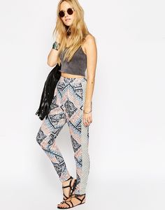 ASOS+Textured+Peg+Trousers+in+Mixed+Folk+Print+Co-ord