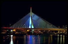 Zakim Bunker Hill Memorial Bridge - Boston, Massachusetts