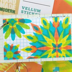 Vellum stickers are awesome for a lot of things besides making sticker mandalas; at least, I assume they are... (Yes, I used the whole packet making mandalas during ICAD 2016)